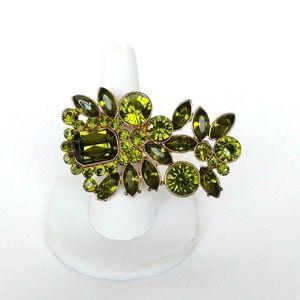 Jewelry - Vintage Rhinestone Double Finger Ring